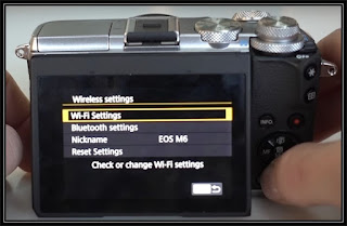 Canon EOS M6 Wireless Setup