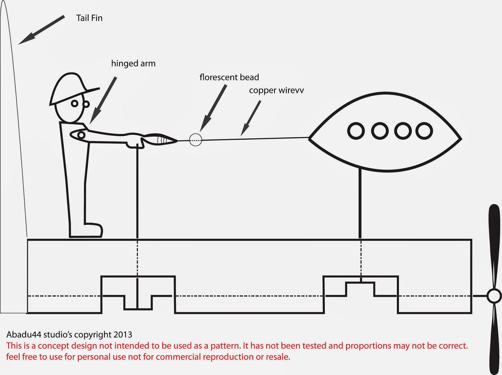 Wiriligig Wood Printable Devianart: Free Patterns And Ideas: UFO Whirligig