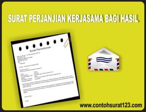 Gambar Contoh Surat Perjanjian Kerjasama Bagi Hasil