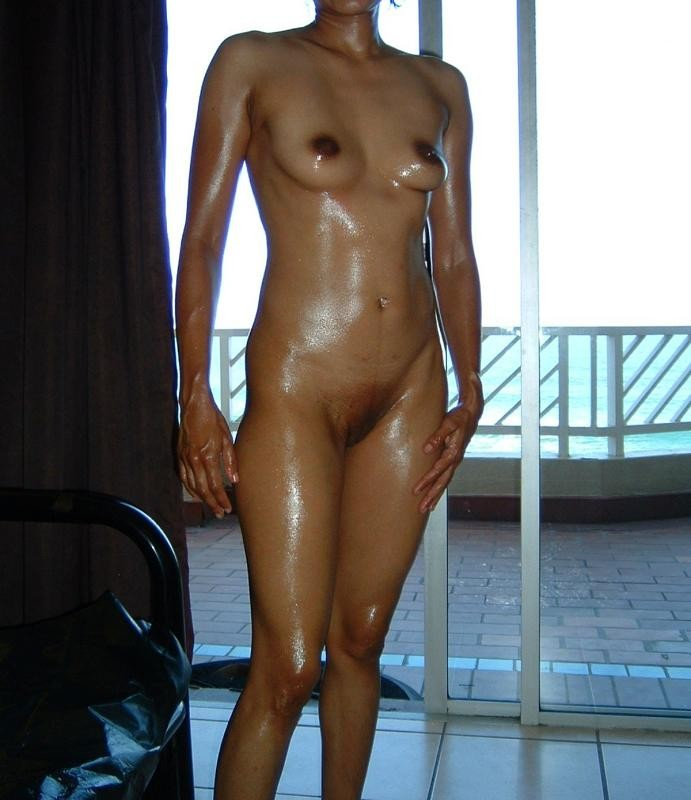 Oily indian nude young