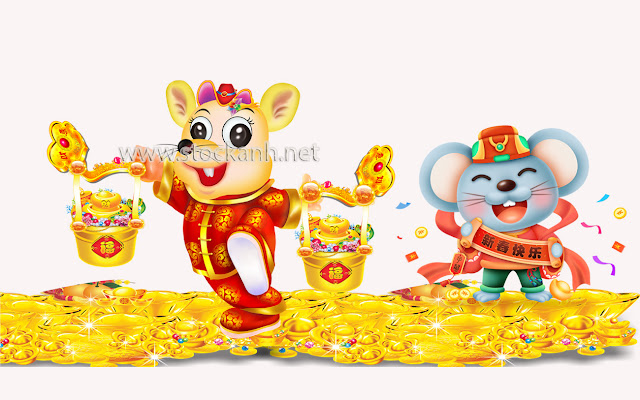 Happy chinese new year 2020 Zodiac sign with gold rat paper cut art and craft style on color Background.