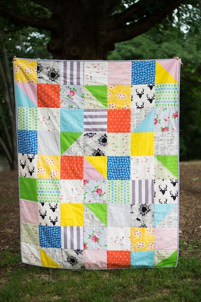Quilt by Beth from Stash Fabrics using June 2016 Design Star Club Bundle