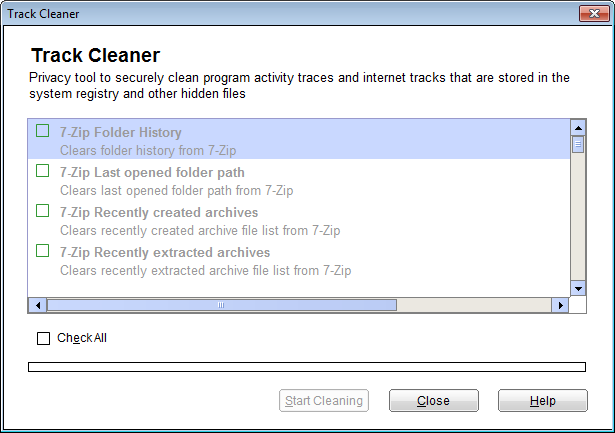 Quick Heal Pro 2014 track cleaner