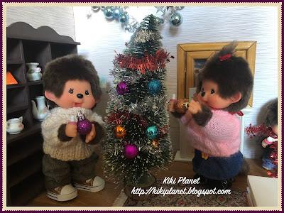 kiki monchhichi bebichhichi noël christmas english anglais tradition new eve