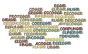 Resultado de imagen de verbos terminados en ger gir y gerar