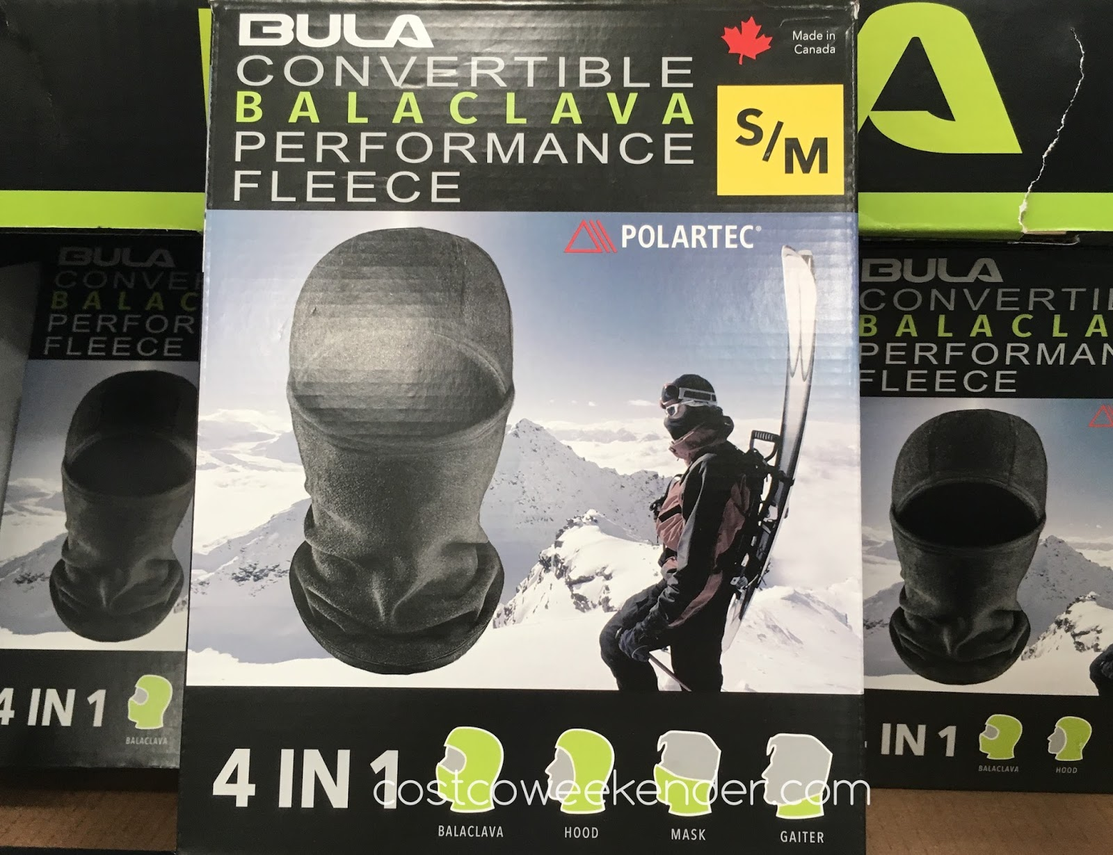 Stay warm while in the outdoors with the Bula 4-in-1 Convertable Performance Fleece Balaclava