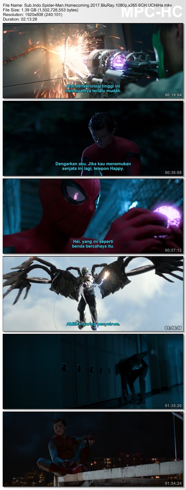 Screenshots Download Film Gratis Spider-Man: Homecoming (2017) BluRay 480p MP4 Subtitle Bahasa Indonesia 3GP