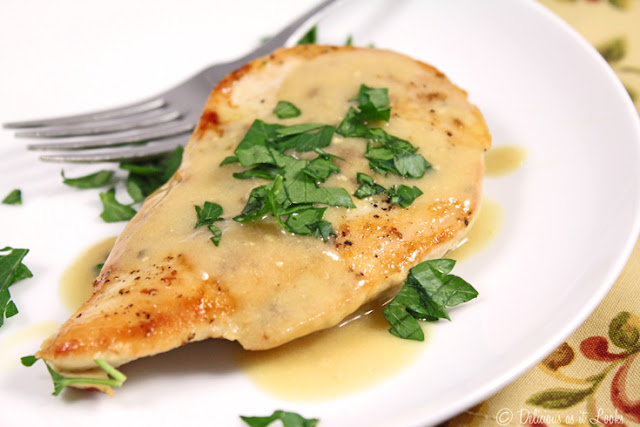 Low-FODMAP Chicken Dijon  /  Delicious as it Looks