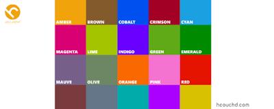 استخدم ألوان أساسية وألوان ثانوين تصميم