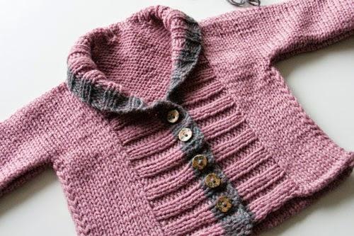 Ribbed Baby jacket