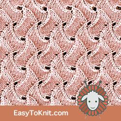 #LaceKnitting Scroll stitch, really enjoy this stitch. FREE Knitting Pattern!  #easytoknit #knitting