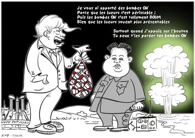 Le dessin du jour (humour en images) - Page 16 TRUMP-KIM-SOMMET