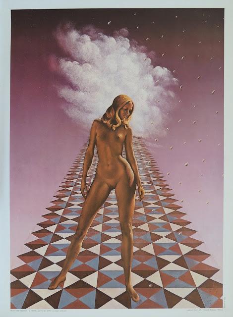 Van der loo mujer desnuda reproducción tela surrealista