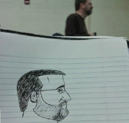 un-etudiant-dessine-son-prof-durant-les-cours-1 un étudiant dessine son professeur pendant les cours quand il s'ennuie
