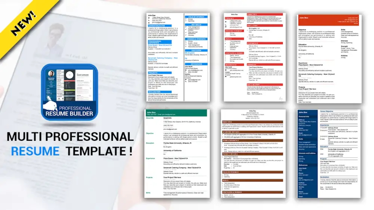 professional resume maker  u0026 cv builder