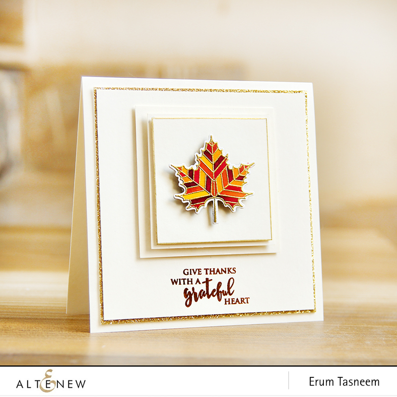 Altenew With Gratitude Stamp and Die Set | Erum Tasneem | @pr0digy0