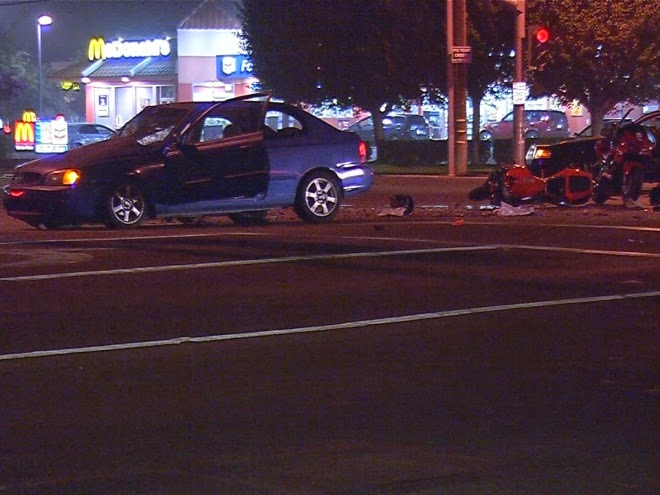 bakersfield motorcycle and car crash robert david rodeen fatal accident
