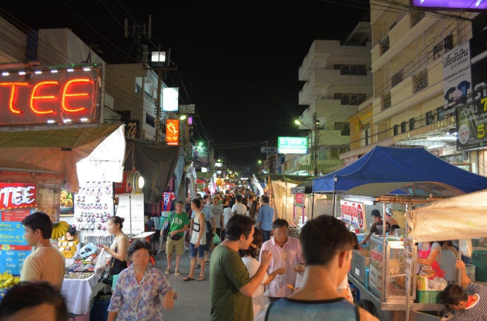 Thailand, Hua Hin, หัวหิน, Water chestnut and taro pudding, ร้านเบญจพงศ์, Hanbanchaphong, night market, hua hin beach