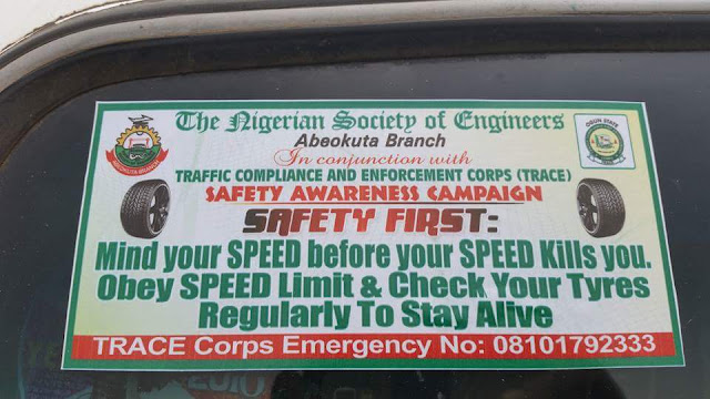 NSE ABEOKUTA EMBARKS ON SAFETY AWARENESS CAMPAIGN EXERCISE.