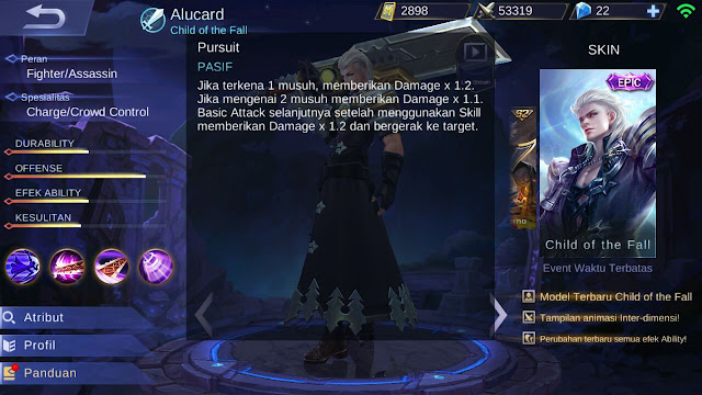 Alucard, Jenis Hero Dalam Game Mobile Legends