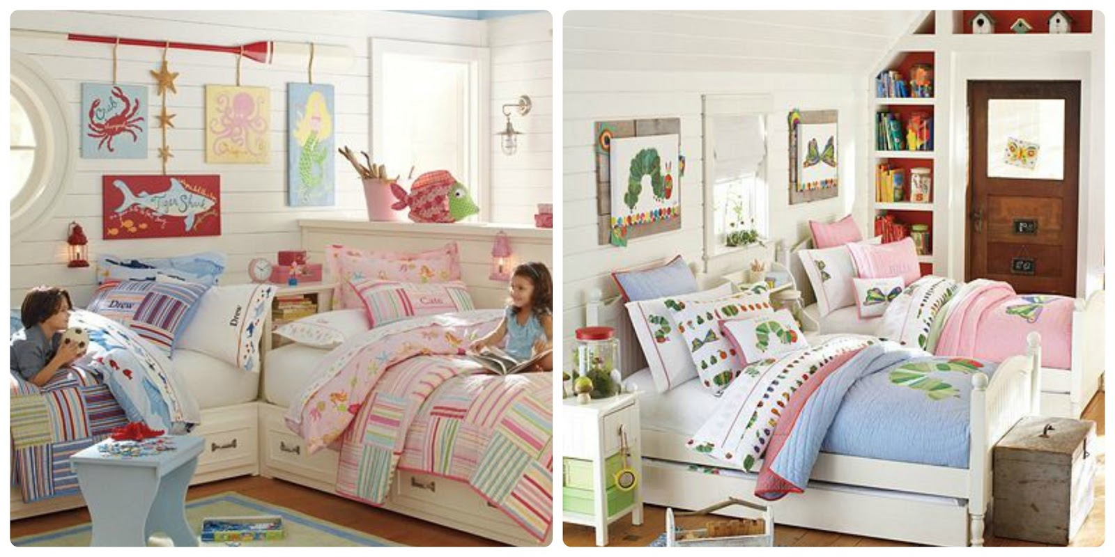 Pepper and buttons best boy girl shared room ideas - Boy girl shared bedroom ideas ...