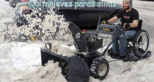 Quitanieves para silla de ruedas