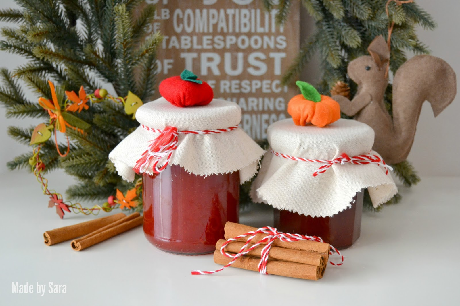 Fall Jam Jar Covers by Made By Sara | Mabey She Made It | #fall #autumn #harvest #jarcover