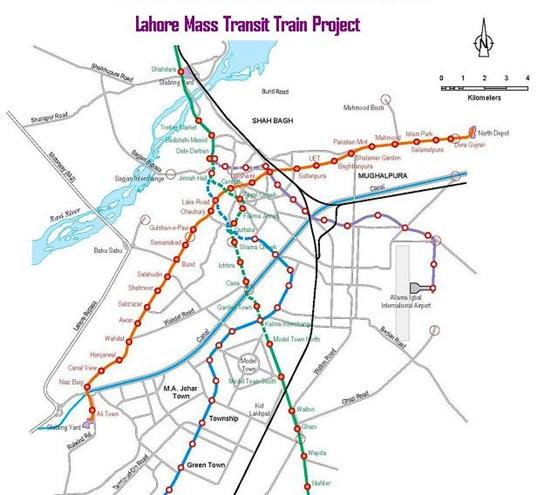 Route Map of Lahore Orange Line Metro Train - Pakistan Hotline