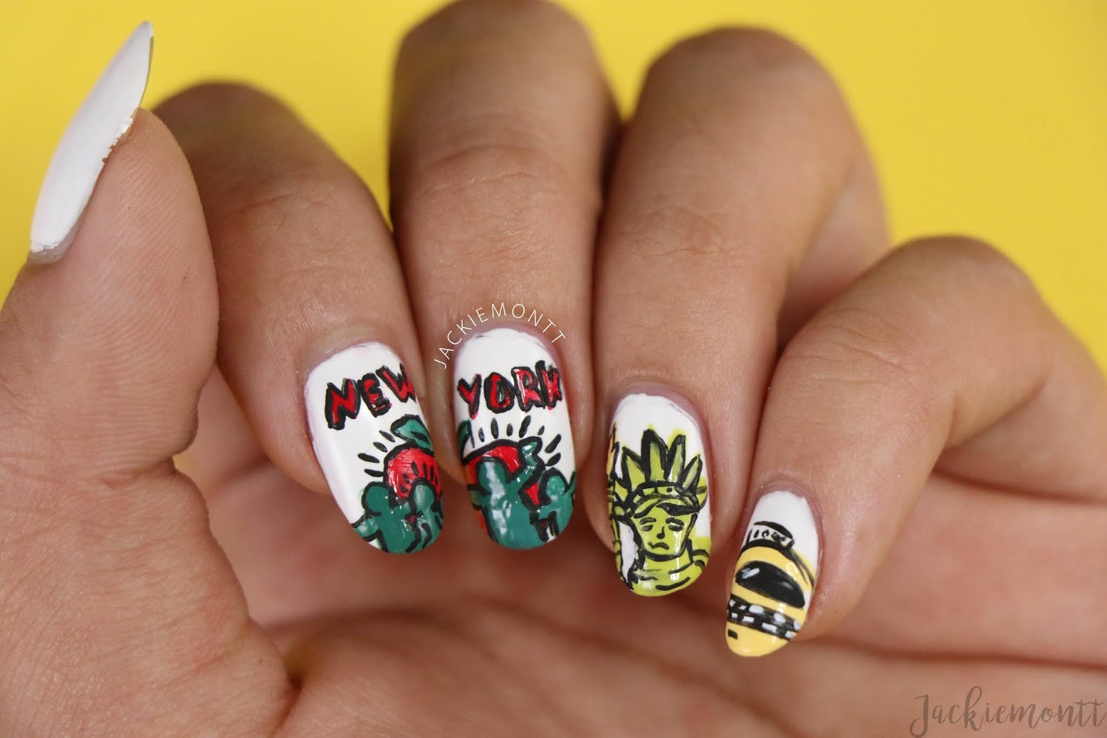 New York Nails Inspired by Keith Haring - JACKIEMONTT