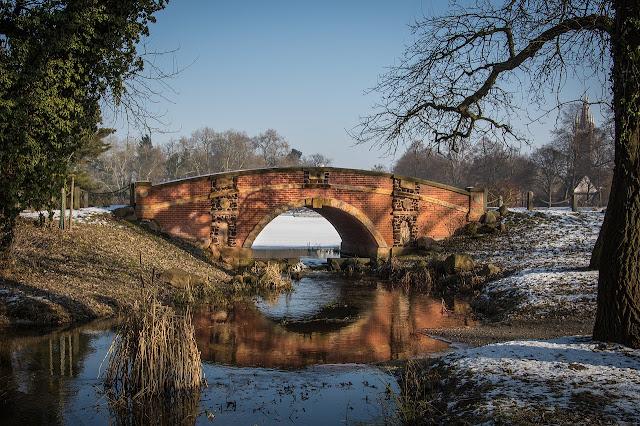 Winterbild, Park im Winterstimmung, Worte die Winter beinhalten, Winterrätsel, Seniorenarbeit