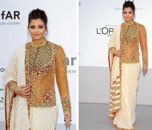 Aishwarya looking nice in  Stylish Designer Sarees
