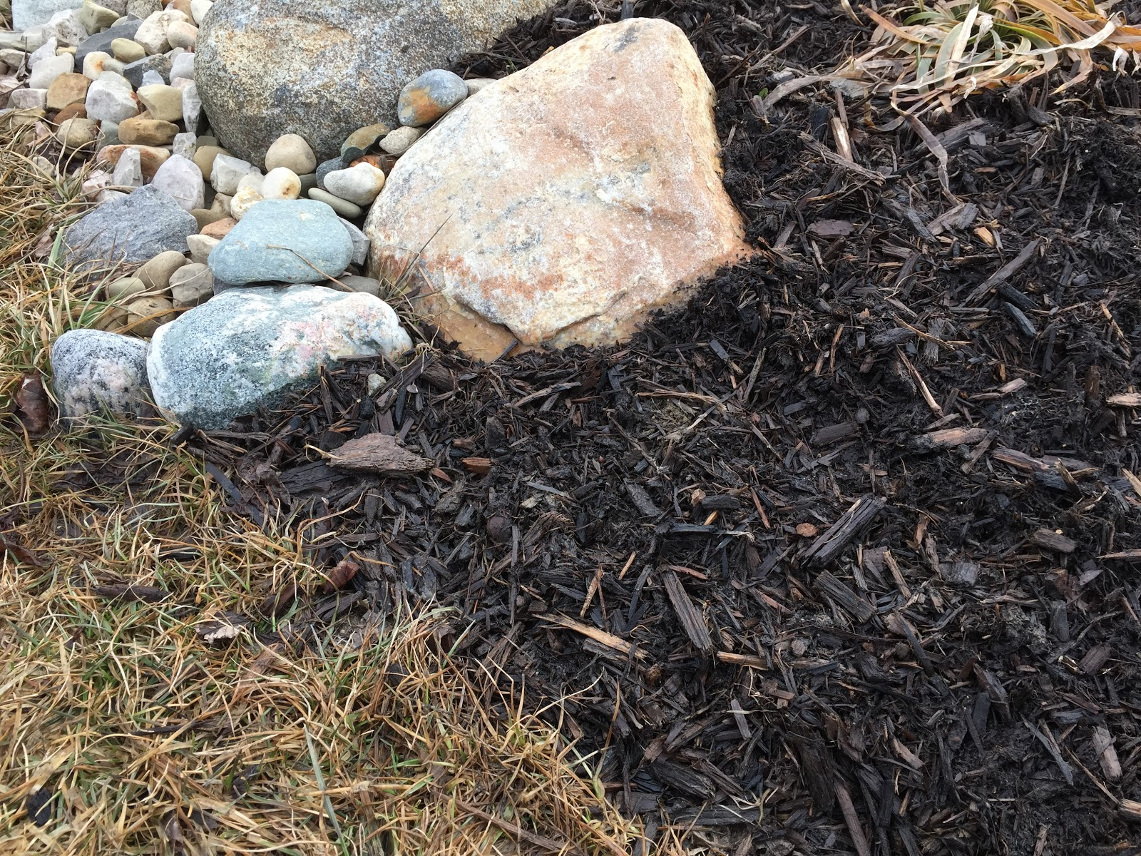 mulch and landscaping rocks