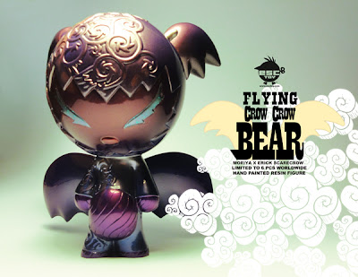 ESC Toy 2012 Holiday Releases: Flying Crow Crow Bear Resin Figure by Moriya & Erick Scarecrow