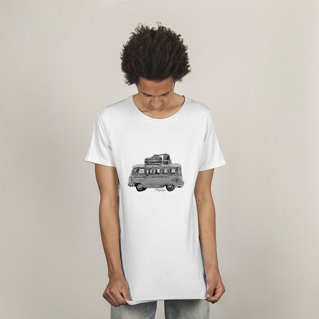 Otobüslü Tişört Sipariş ver