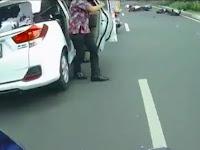 Ngeri! Video Detik-detik Honda CBR Tabrak Dua Motor di Bogor