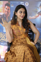 Rakul Preet Singh smiling Beautyin Brown Deep neck Sleeveless Gown at her interview 2.8.17 ~  Exclusive Celebrities Galleries 219.JPG