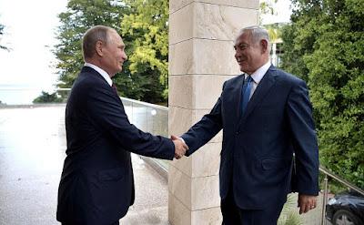 Vladimir Putin and Prime Minister of Israel Benjamin Netanyahu in Sochi.