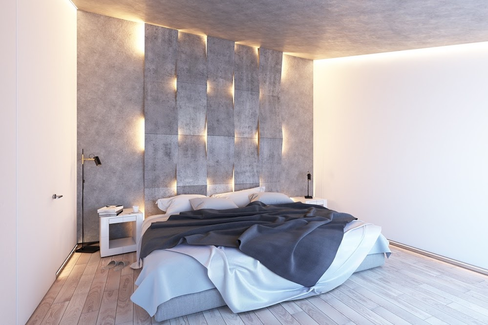 concrete-and-recessed-lighting
