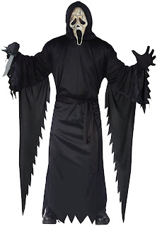 Boys Scream 4 - Zombie Ghost Face Teen Costume - Black for Halloween