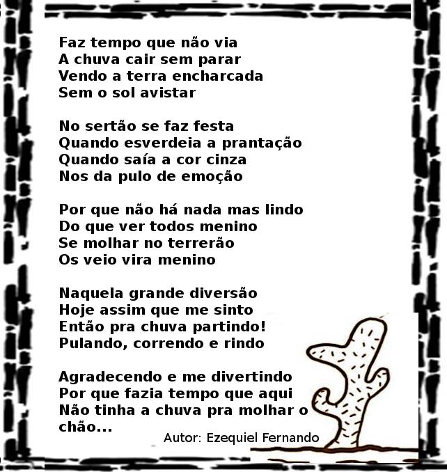 Chuva No Sertao Poesia E Cordel Blog Adalberto Gomes Noticias