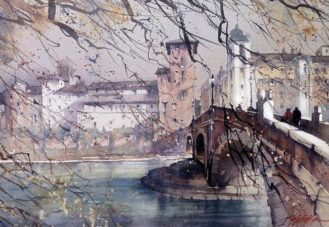 Картины акварелью. Thomas W. Schaller