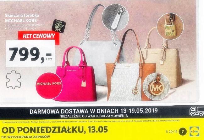 662ff66111 Torebki Michael Kors w LIDL POLSKA - MAJ 2018 - dostępne MODELE ...