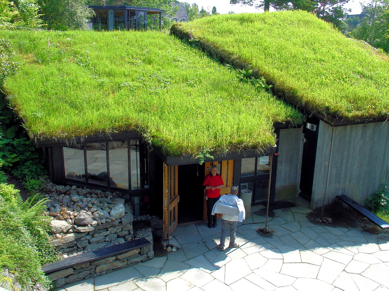 You won't believe the interior of this grass-roofed hut.