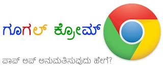 ಗೂಗಲ್ ಕ್ರೋಮ್ ನಲ್ಲಿ ಪಾಪ್ ಅಪ್ ಸಕ್ರೀಯಗೊಳಿಸುವಿಕೆ - Halatu Honnu