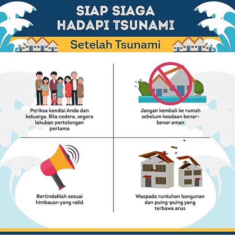 Infografis: Tips Siap Siaga Menghadapi Bencana Tsunami
