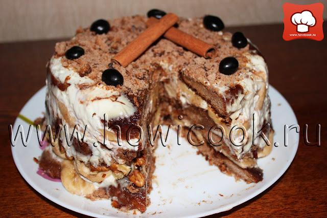 рецепт как приготовить вкусный пряничный торт