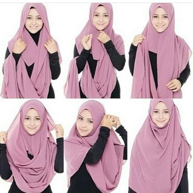 cara-mudah-pakai-shawl