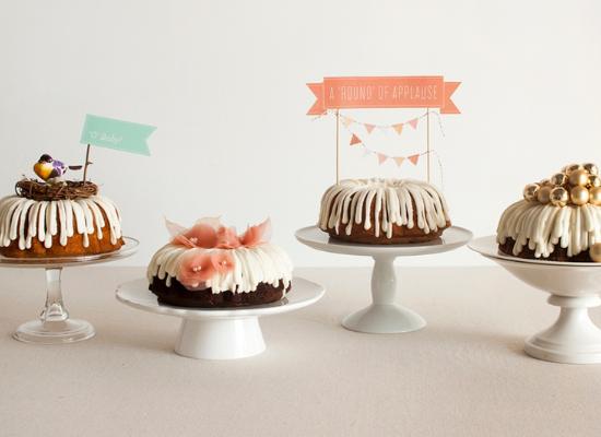 Wedding cake alternative ideas, wedding dessert, bundt cakes