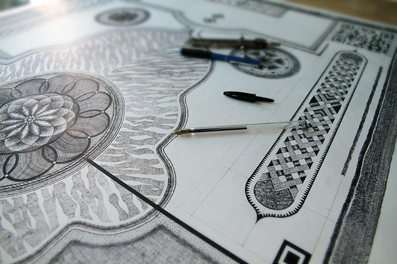 Simply Creative: Carpet Drawings by Jonathan Bréchignac