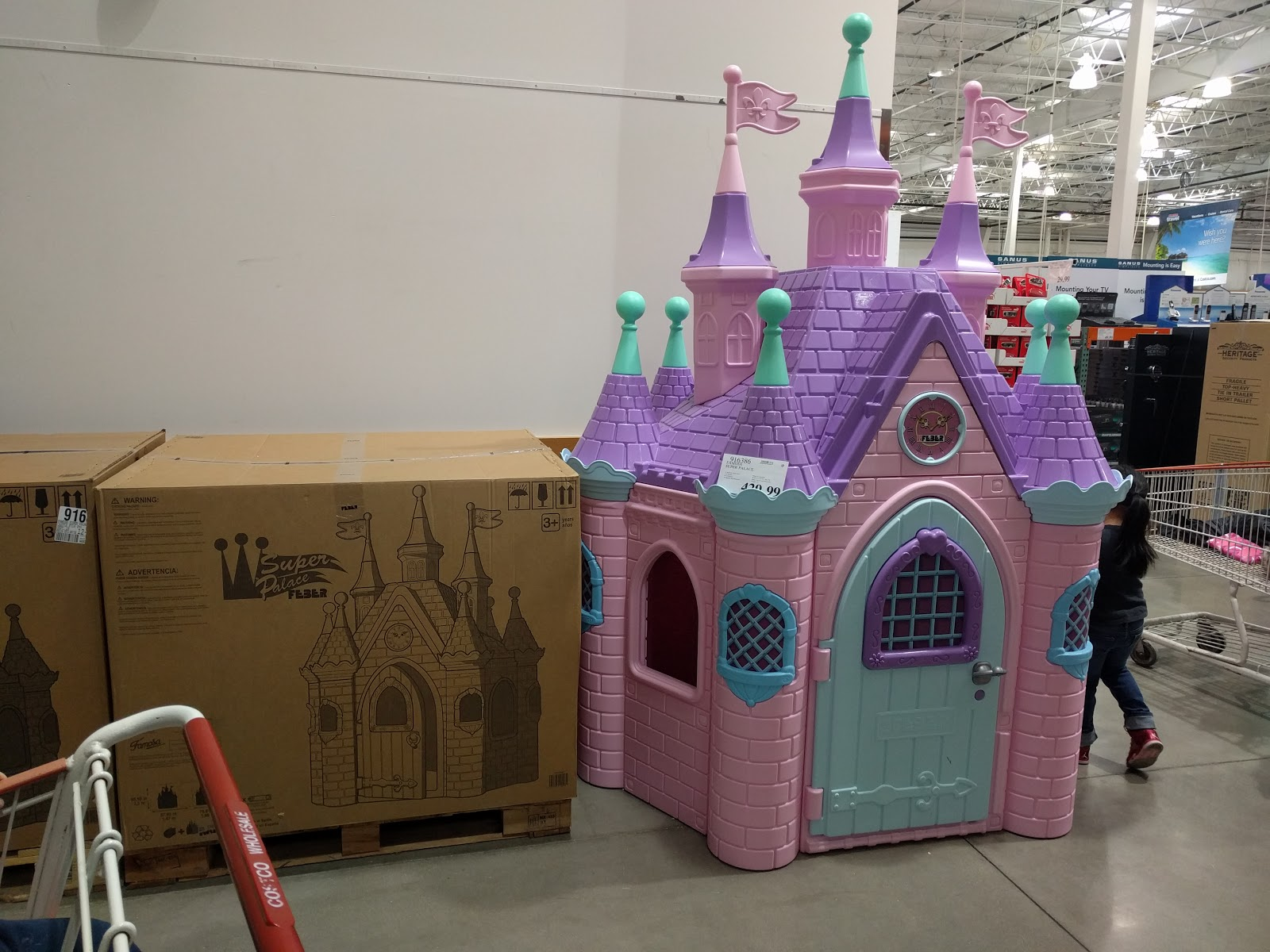 Costco Pink Princess Castle Super Palace